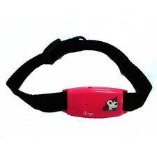 Pet Tag Classic No Bark Small Collar in Red