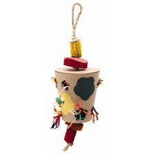 Living World Nature's Treasure Flowerpot Foraging Box  Hookbill Bird Toy
