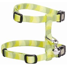 Catit Style Adjustable Cat Harness and Leash Set in Jungle Stripes