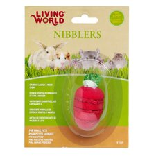 LW Nibblers Wood/Loofah Strawberry Small Pet Chew Toy