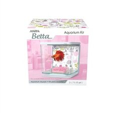 Marina Betta Floral Décor Aquarium Kit