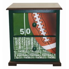 Football 50 yard Line Nightstand