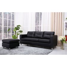 <strong>Gold Sparrow</strong> Detroit Convertible Sectional Sofa and Ottoman