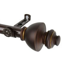 Dynasty Steel Curtain Rod and Hardware Set