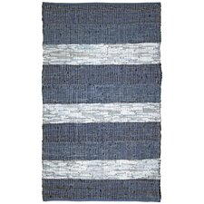 Matador Blue Leather Chindi Rug