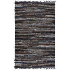 Matador Brown Leather Chindi Rug