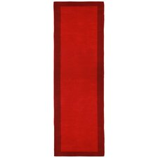 Pulse Red Border Rug