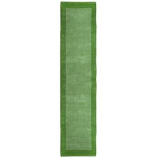 Pulse Green Border Rug
