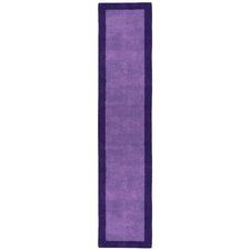 Pulse Purple Border Rug