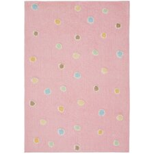 Carousel Pink Dots Kids Rug