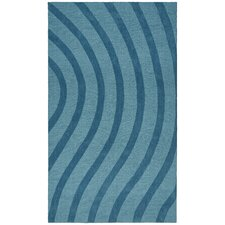 Transitions Light Blue/Blue Waves Rug
