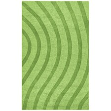 Transitions Light Green/Green Waves Rug