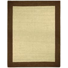 Earth First Brown Jute Border Rug