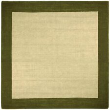 <strong>St. Croix</strong> Earth First Green Jute Border Rug