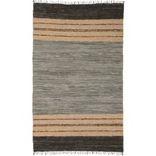 <strong>St. Croix</strong> Matador Leather Chindi Gray/Brown Rug