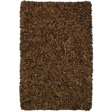 Pelle Leather Brown Rug