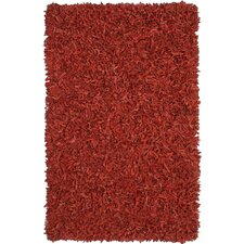 Pelle Leather Red Rug