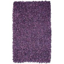 Pelle Leather Purple Rug