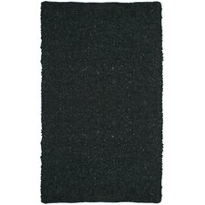 Pelle Short Leather Black Rug