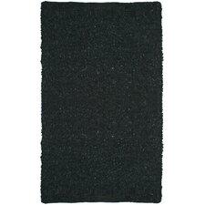 Pelle Short Leather Black Rug