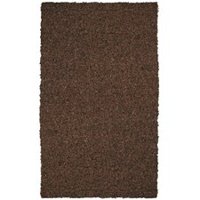 Pelle Short Leather Dark Brown Rug