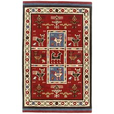 Traditions Tribal Burgundy Rug