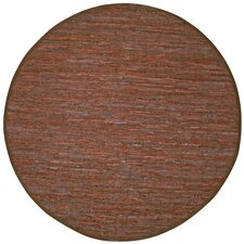 Matador Brown Leather Chindi Rug
