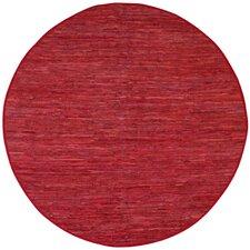 Matador Red Leather Chindi Rug