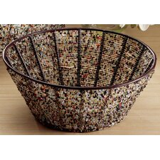 Kindwer Round Iron Basket with Beads