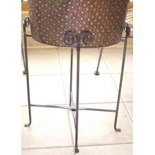 Kindwer Iron Oval Party Tub Floor Stand