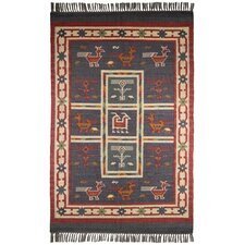 Hacienda Blue Tribal Rug