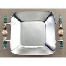 Kindwer Southwest Beaded Square Serving Tray