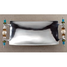 <strong>St. Croix</strong> Kindwer Beaded Rectangle Serving Tray