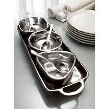 Kindwer 7 Piece Tray and Bowl Condiment Set