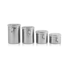 4 Piece Stainless Steel Canister Set