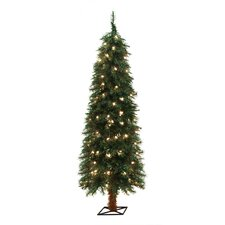 5' Green Alpine Christmas Tree with 105 Clear Lights