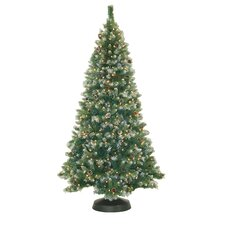 7' Frosted Pine Christmas Tree with 500 Clear Lights