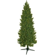 "84"" Green Slim Spruce Artificial Christmas Tree"