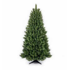 "6' 6"" Green Half Evergreen Artificial Christmas Tree"