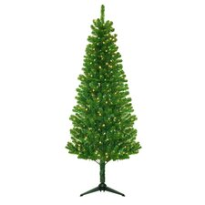"""Morrison 78"""" Green Artificial Christmas Tree with 250 Clear Lights"""