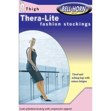 TheraLite 20-30mmHg Lace Top Thigh-high Close Toe Stocking in Beige