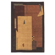 American Home Modern Tiban Gold/Terracotta/Brown Rug