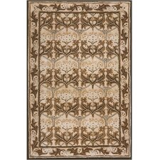 American Home Classic Arts & Craft Taupe/Black Rug
