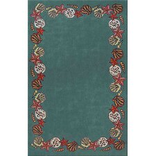 <strong>American Home Rug Co.</strong> Beach Rug Teal Coral Reef Novelty Rug