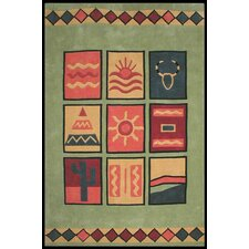 Bright Rug Lime Sizzle Novelty Rug