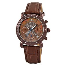 Victory Leather Diamond Watch
