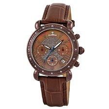 Victory Leather Diamond Watch