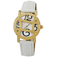 Women's Olympia Leather Watch in White