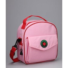 Alexandra Placemat Lunch Bag in Pink / Red  with optional Lunch Sack