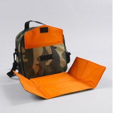 Ethan Placemat Lunch Bag in Camo / Orange Trim and Liner
